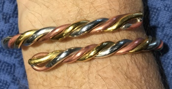 Clean Astrological Bangle - Look at the copper shine!!